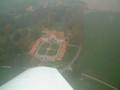 Castle Konopiště from bird's-eye view