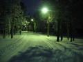 Běžecká trať v noci