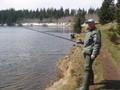 Fisherman at Lac Servière