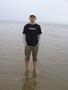 Rainy beach in Pärnu